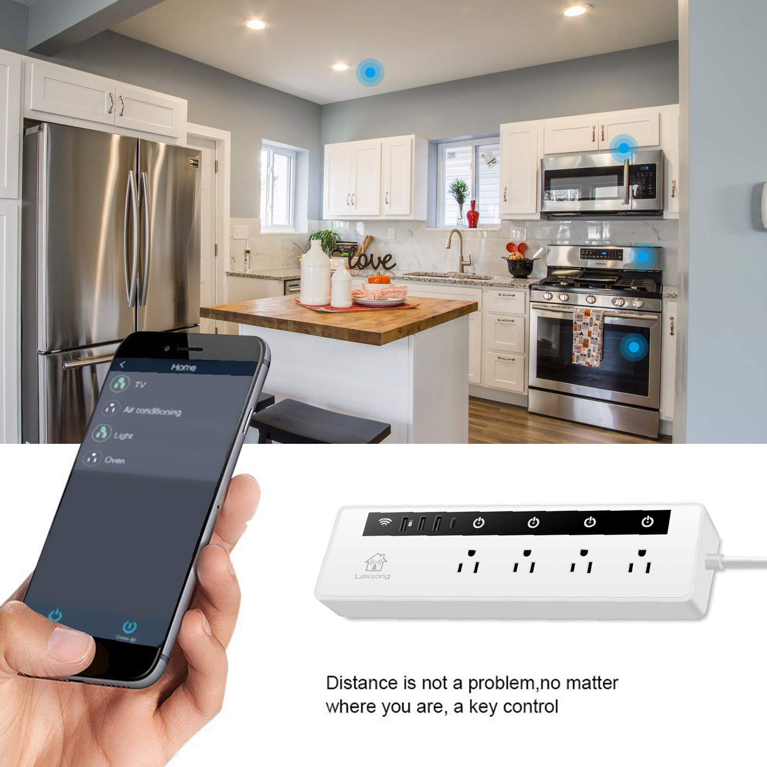 Wifi Outdoor Smart Plug Outlet Wireless Remote Control via