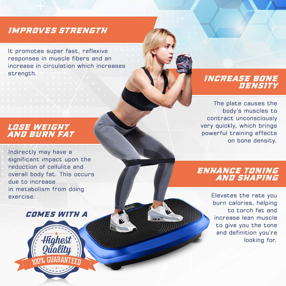LifePro 3D Vibration Plate Exercise Machine - Dual Motor Oscillation, Pulsation + 3D Motion Vibration Platform   Full Whole Body Vibration Machine for Home Fitness, Weight Loss, Toning & Shaping. by LifePro (Image #4)