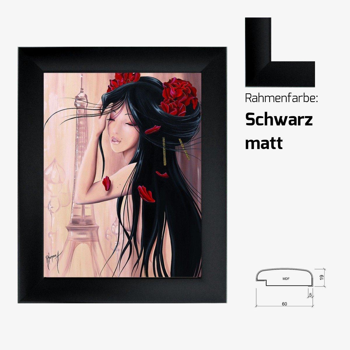 Kunstdruck RHUMEUR - Lilou Paris et romance II japanisches Mädchen ...