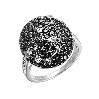 345291db49d7 Hutang joyería 925 plata de ley Scorpio Zodiac Natural negro Spinel    blanco topacio anillo fino