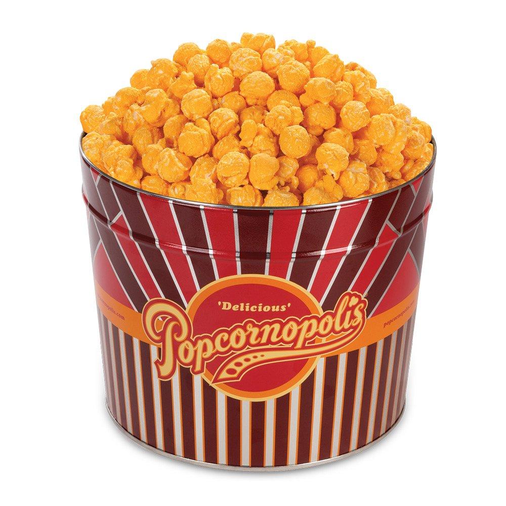 CDM product Popcornopolis Gourmet Popcorn 1.26 Gallon Tin (Cheddar) big image