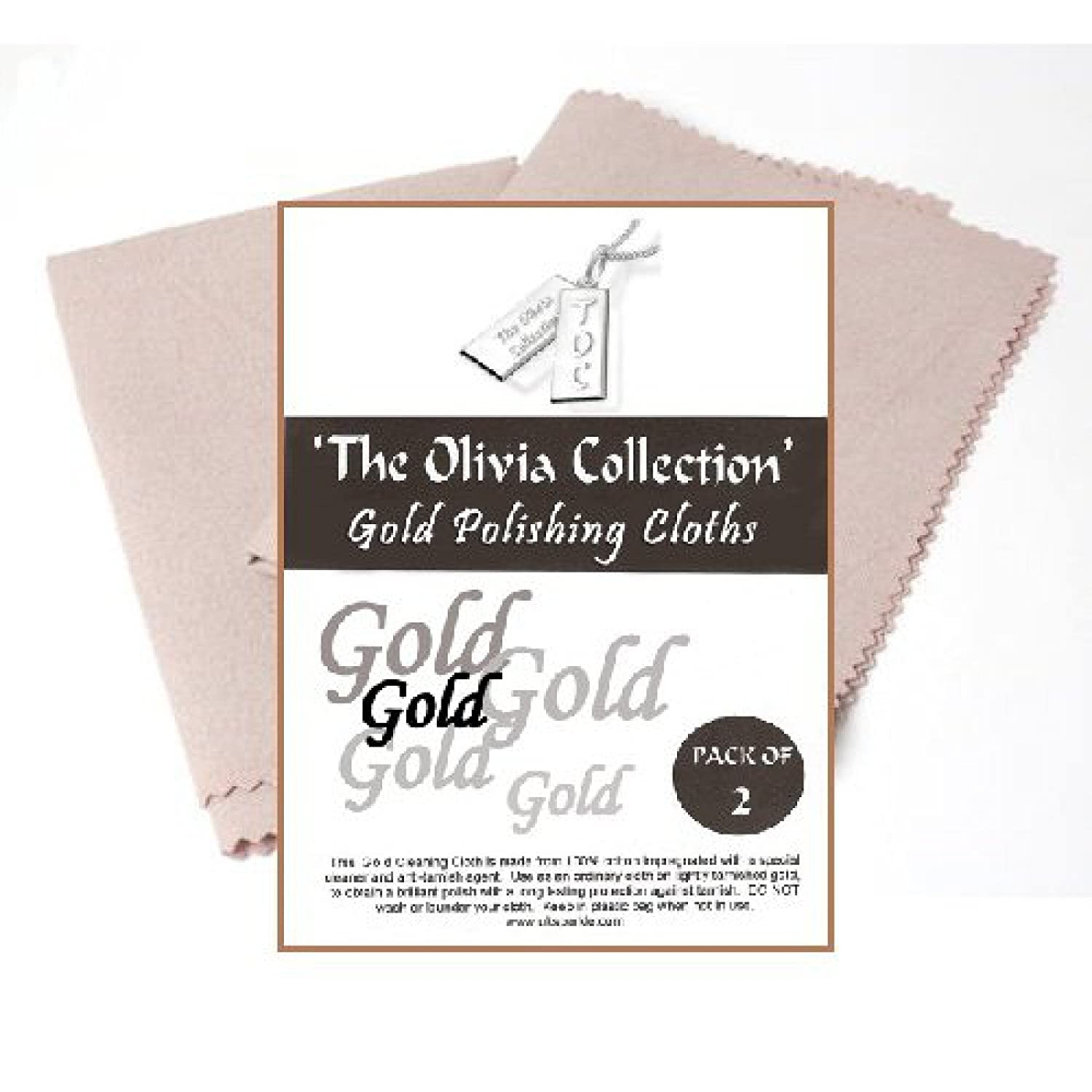 TOC Gold Jewellery Anti Tarnish Cleaning & Polishing Cloth X 2, 220mm x 315mm The Olivia Collection Direct Diamond Centre SC24