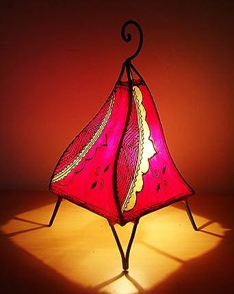 Lampe Marocaine 35cm En Cuir Fer Forge Systeme Electrique Incl