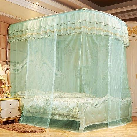 Amazon.com: Toldo de cama, 4 esquinas, mosquitera de lujo ...