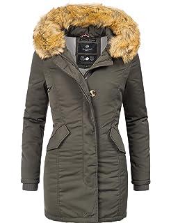 Marikoo Damen Winter Mantel Winterparka Karmaa XS-XXXXXL (vegan  hergestellt) 15 Farben XS 2d87db2175