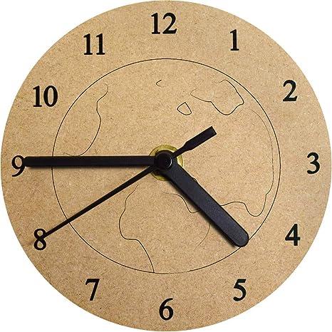 Azeeda 130mm Planeta Reloj de Pared pequeño MDF (CK00000890)