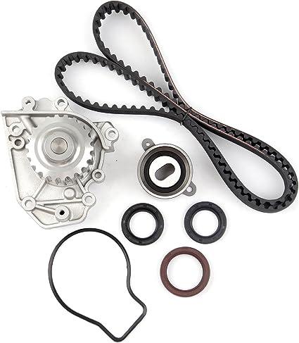 cciyu Juego de correa de distribución con bomba de agua tbk247 wp4008 Fit 1994 – 2001 1.8L Acura Integra GS-R Integra Type-R B18 C1 B18 C5 16 Válvula DOHC: Amazon.es: Coche y