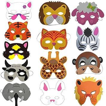 Schnäppchen 2017 sale suche nach neuestem Saflyse 8PCS Kindermasken Tiermasken Gesichtsmasken Partymasken  Tiermaskenset für Kinder aus EVA(Stil zufällige)