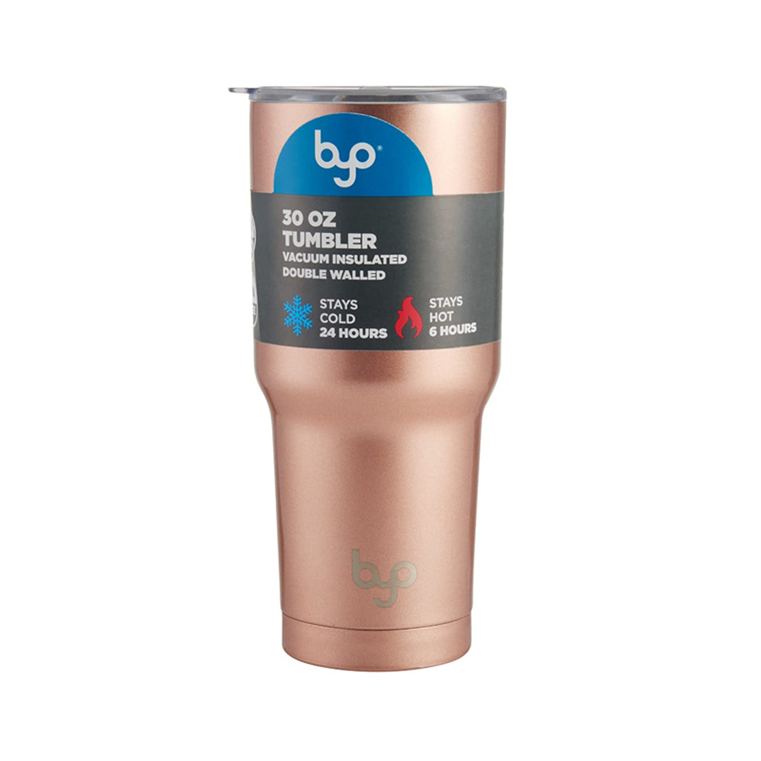 a2bdee124d7 Amazon.com: BYO 5211330 Double Wall Stainless Steel Vacuum Insulated Tumbler,  30-Ounce, Metallic Rose Gold: Kitchen & Dining