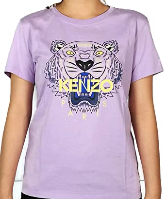 055c8b773914 Authentic Kenzo Women's Wisteria Purple Tiger Head T shirt (Medium ...