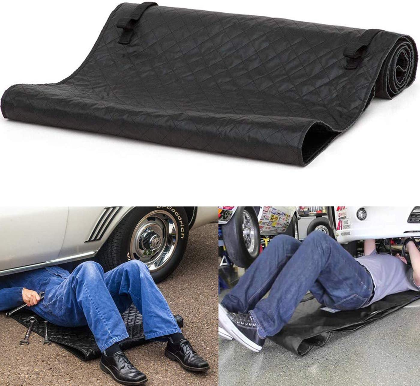 omotor Automotive Car Creeper Black Zero Ground Auto Mechanics Repair Creepers Mat Rolling Pad Under The Vehicle for Cars Working and Household