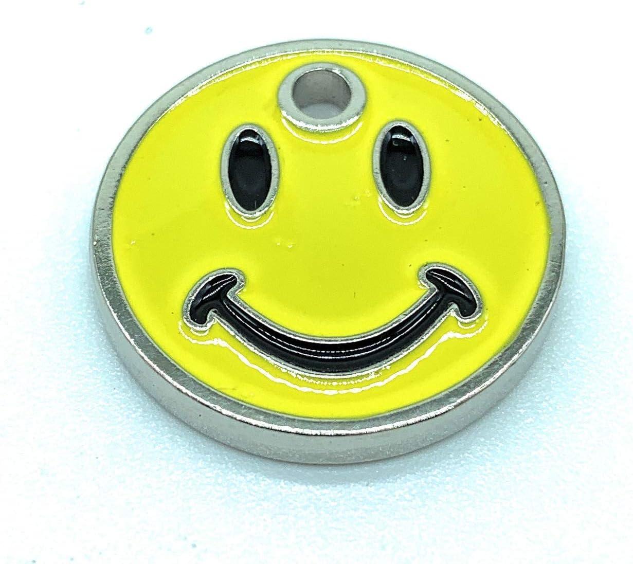 2 x Smiley Face Round Coin Trolley Token Keyring /£1