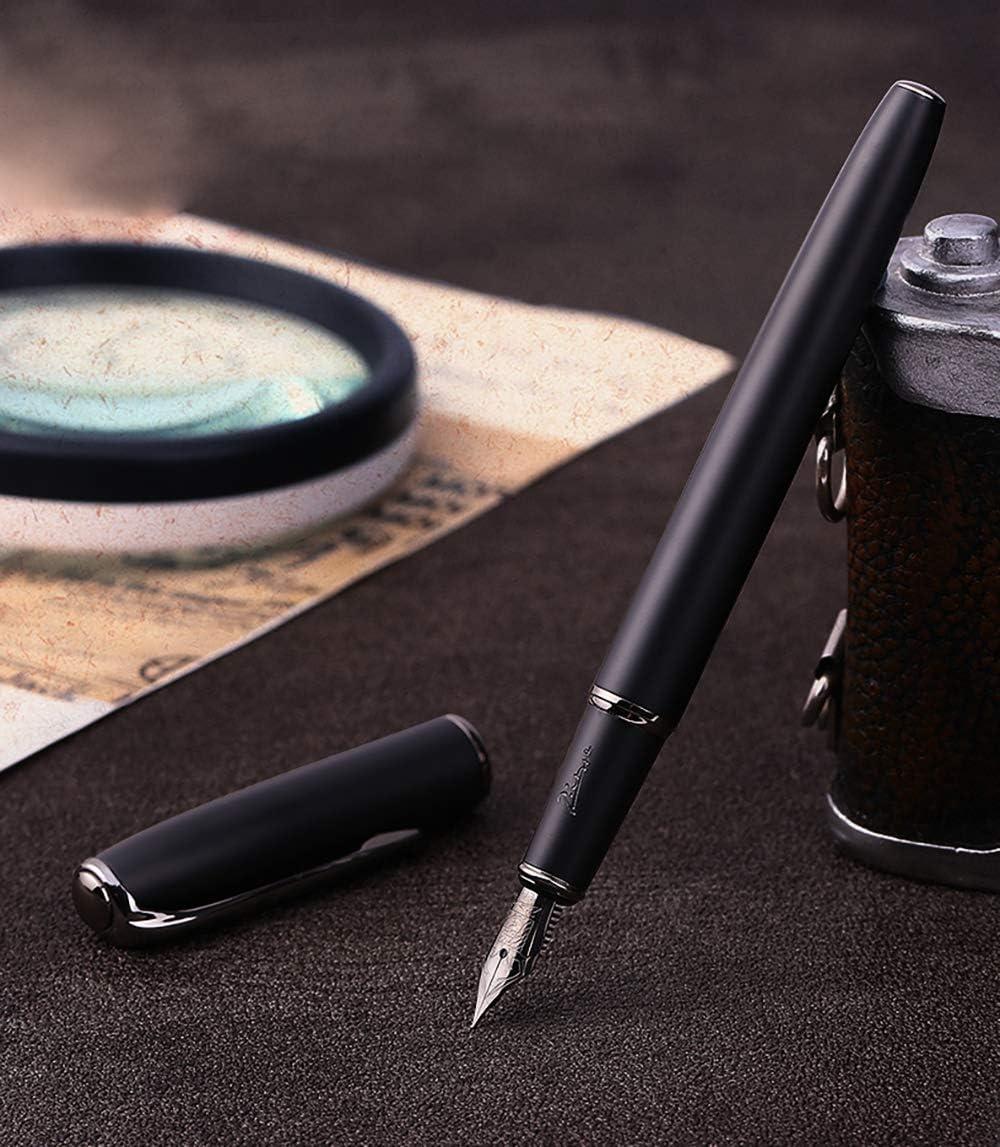 Picasso 916 Matte Black Fountain Pen Titanium Black Medium Nib with Gift Box