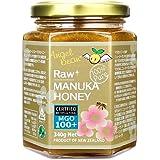 天然 非加熱 生マヌカハニー MGO100+ ニュージーランド産 マヌカ蜂蜜(生はちみつ)340g 正規輸入品
