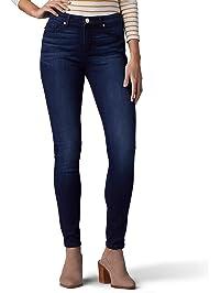 Lee Womens Tall Sculpting Slim Fit Skinny Leg Jean Jeans