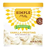 Simple Mills Organic Frosting with Coconut Oil Vanilla, 10 oz