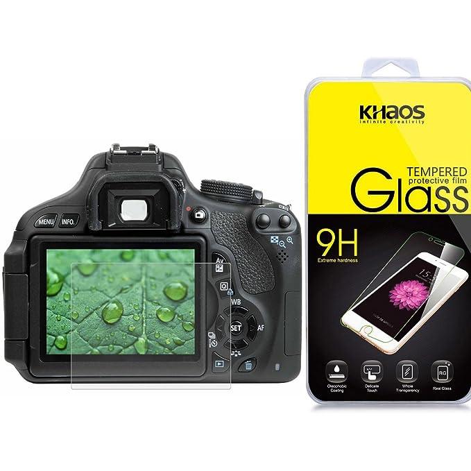 Khaos Canon 800d óptico 9H templado cristal Protector de pantalla ...