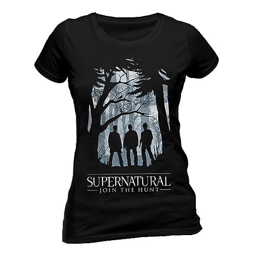 super natural Supernatural-Group Outline W, Camiseta para Mujer
