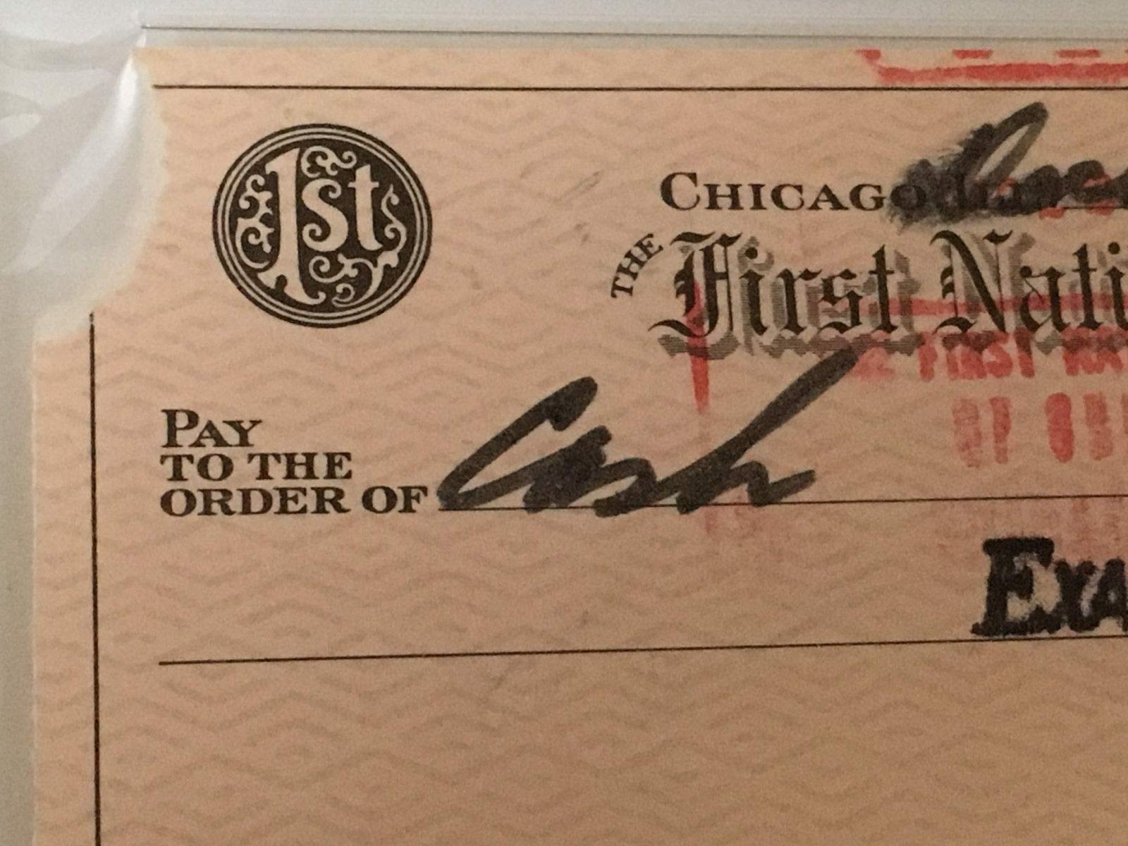 Will Harridge Autographed Signed Bank Check PSA/DNA Authentic Encapsulated Hof