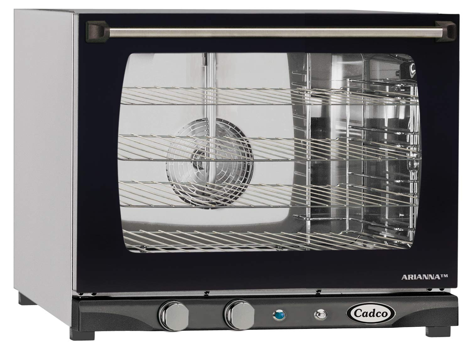 B0027AL6W2 Cadco XAF-133 Half Size Convection Oven with Manual Controls and Humidity, 208-240-Volt/2700-Watt, Stainless/Black 71Y2BzeYtgFL._SL1500_