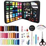 Sewing Kits for Adults Beginners: 72 / 112 / 136 / 226 PCS Basic Hand Sewing Kit and Crochet Hooks for Emergency Summer Campe
