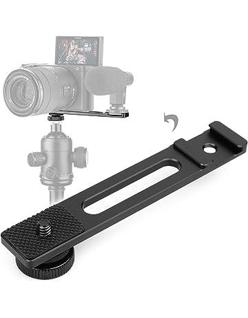 Soporte de doble de metal de doble en forma de L//Monte titular para Canon Speedlite Flash de Cámara y