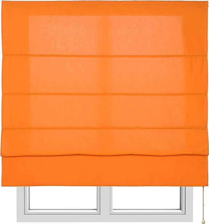 Medida Estor 90x175 cm. 10XDIEZ Estor con Varillas tur/ín Azul Liso