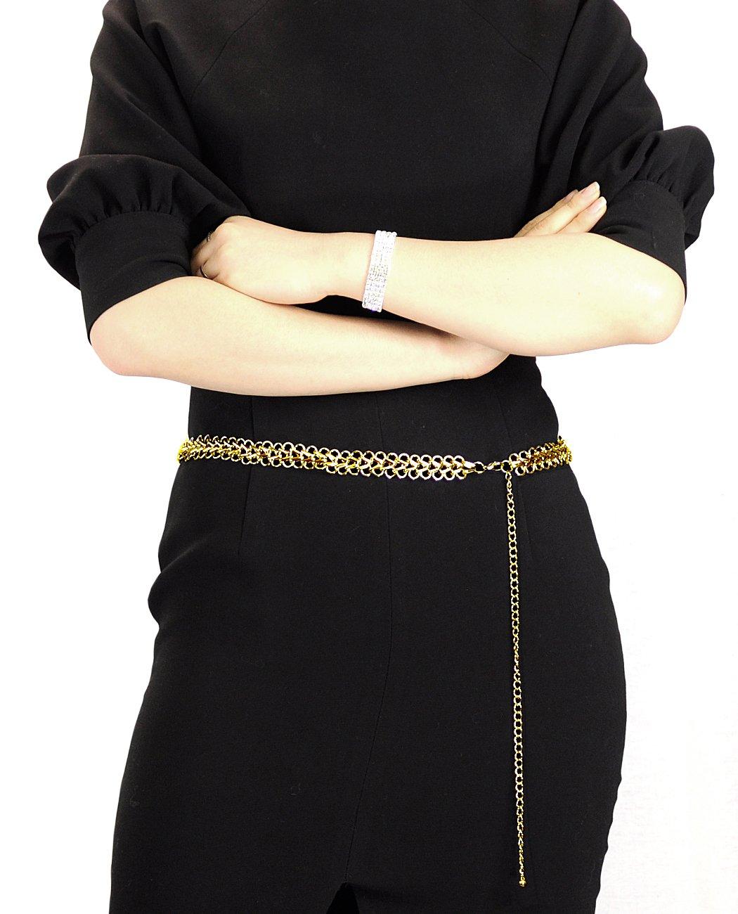 NYfashion101 Fashionable Adjustable Single Link Chain Belly Chain Belt IBT2006G