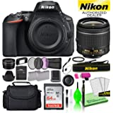 Nikon D5600 24.2MP DSLR Digital Camera with AF-P DX 18-55mm Lens (1576) USA Model Deluxe Bundle -Includes- Sandisk 64GB SD Ca