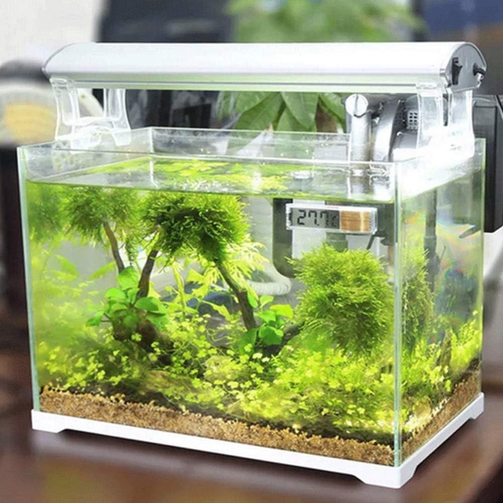 ENticerowts Mini size Aquarium Thermometer High Precision 3D LCD Digital Aquarium Shrimp Fish Tank Temperature Meter Stick-on Thermometer Silver