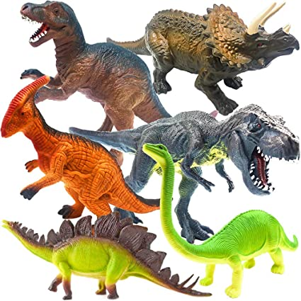 6 Pieces Real Life Jurassic Dinosaur Model Set Kids Educational Toys Gift
