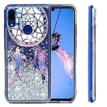 MUSESHOP Funda Xiaomi Redmi Note 7, Pintado Purpurina Líquida Que Fluye Cubierta Brillante Carcasa Liquida