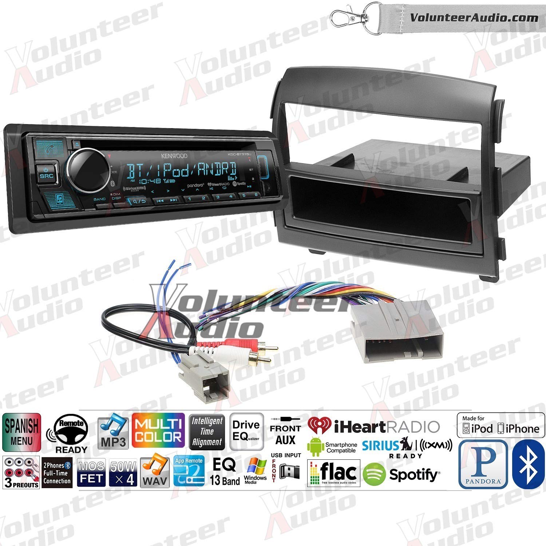 Volunteer Audio Kenwood KDC-BT375U シングルDINラジオインストールキット Bluetooth Sirius XM対応 CDプレーヤー USB/AUX対応 B07M7PRY9P