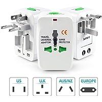Robo Bull Universal Travel Adapter Plug, White
