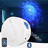 PATIOSNAP Star Night Light Projector, LED Star Projector with Moon Nebula Cloud, 3 in 1 Ocean Wave, 6 Lighting Effects…