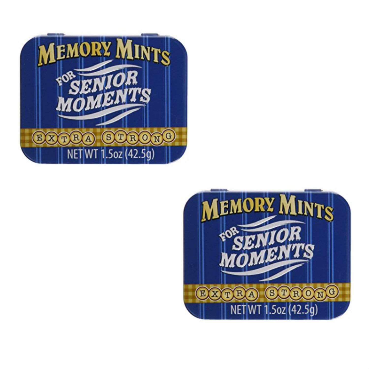 Memory Mints for Senior Moments Fun Gag Tin, Pack of 2 by