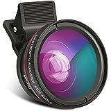 クリップ式 カメラレンズキット スマートフォン用カメラレンズ 0.45x広角レンズ+12.5xマイクロレンズ 120°視野角 5cm超大口径 レンズキット iPhone、Samsung、Sony、Android スマートフォン、タプレットなどに対応