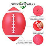 Stylife Mini Inflatable Football 7.5Inch Playground Balls for Kids and Junior Outdoor Family Games