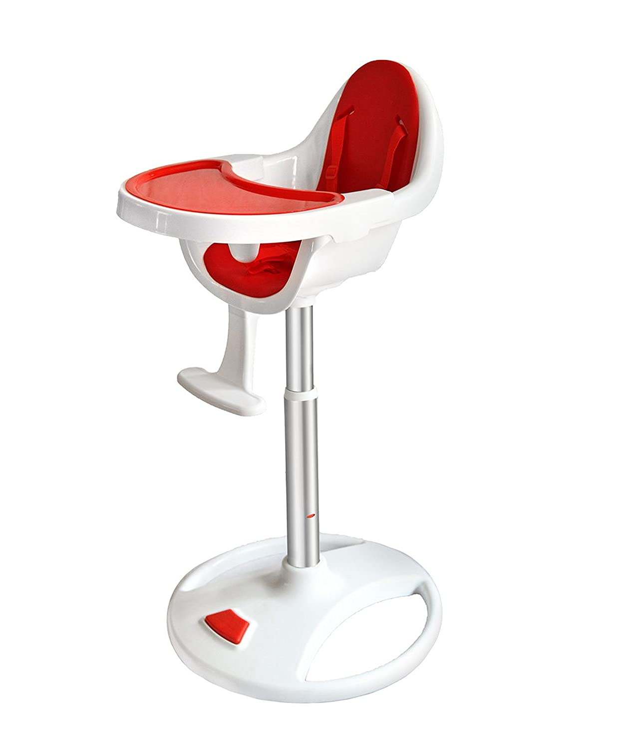 Bebe Style Modern Swivel 360 Degree Pedestal Highchair (Red) - 2018 SCH72R