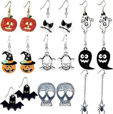 Faux Leather Earrings Halloween Earrings Pumpkin Farm