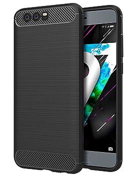 Huawei Honor 9 Funda, Carcasa Caso Cubierta de Protección de TPU Silicona con Textura de Fibra de Carbono para Huawei Honor 9 5.15
