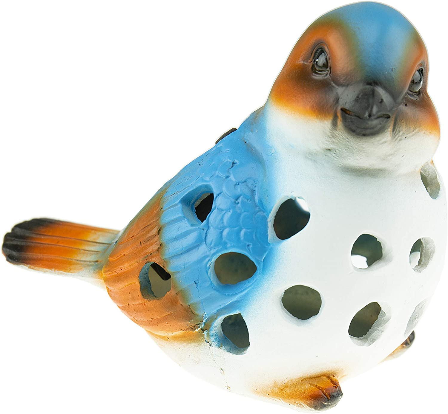 CLEVER GARDEN Solar Bird Statue Outdoor Décor, Resin LED Lights Figurine for Patio and Yard