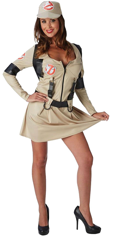 Confettery - Damen Ghostbusters Lady Kostüm, Beige, Größe M