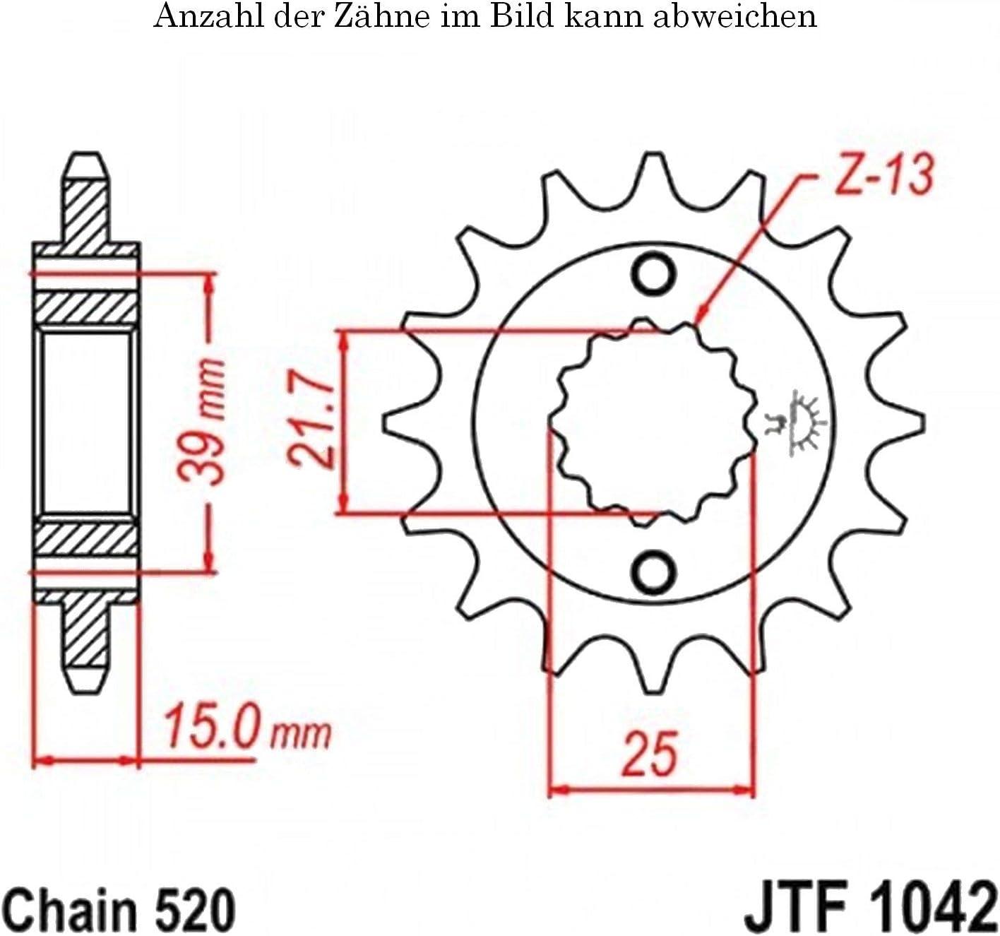 Ritzel 15 Z/ähne f/ür Maxxer 300 Offroad Baujahr 2012-2015 von jtSprockets