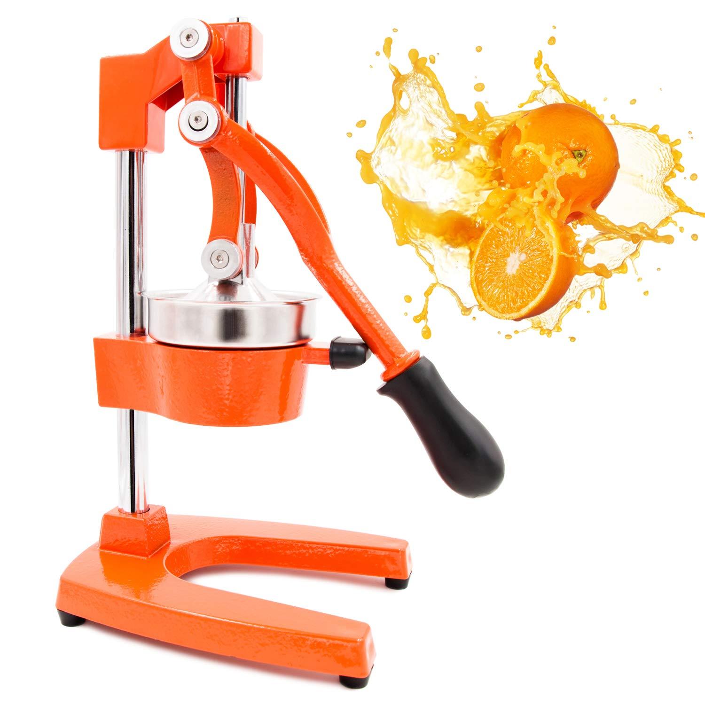 Egofine Commercial Grade Citrus Juicer, Hand Press Manual Fruit Juicer Juice Squeezer Citrus Orange Lemon Pomegranate, Orange by Egofine