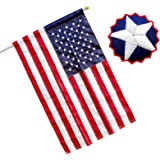 RamboN - 2.5x4 FT American Flag Pole Sleeve, Embroidered Stars, Sewn Stripes. (Flag Pole is NOT Included)