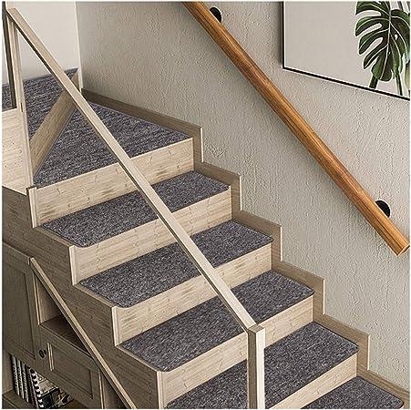 Alfombras de Escalera Peldaños Escaleras Alfombras Tapetes Cojines Piso Mat 5 Colores 4 Tamaño 8mm (Color : A, Size : 1PCS 24X90CM): Amazon.es: Hogar