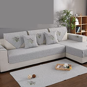 J Dsssu Sofa Covers L Shaped Couch Slipcover Cotton Anti Slip