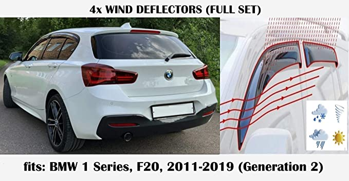 Schrägheck Hatchback 5tür Windabweiser für BMW 1er F20 Urban Line Facelift 2015