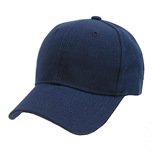 9315447eed Decky Plain Solid Fitted Baseball Cap Navy Blue (8 Sizes Available ...